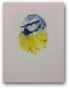 Cheeky Blue Tit  - click to visit artists gallery ->