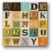 Sir Peter Blake - Appropriated Alphabet 9  - click to visit artists gallery ->
