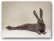 Reclining Hare  - click to visit artists gallery ->