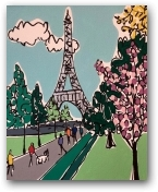 Mini Paris in Spring  - click to visit artists gallery ->