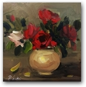 Vase of Red Roses  - click to visit artists gallery ->