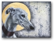 Italian Greyhound by Moonlight  - click to visit artists gallery ->