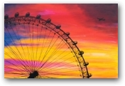 London Eye Sunset  - click to visit artists gallery ->