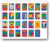 The Dazzle Alphabet Letters -P.O.A  - click to visit artists gallery ->