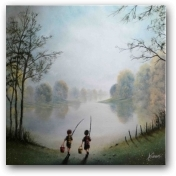 Gone Fishing  - click to visit artists gallery ->