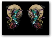 Print:Two Moon Wonderland  - click to visit artists gallery ->