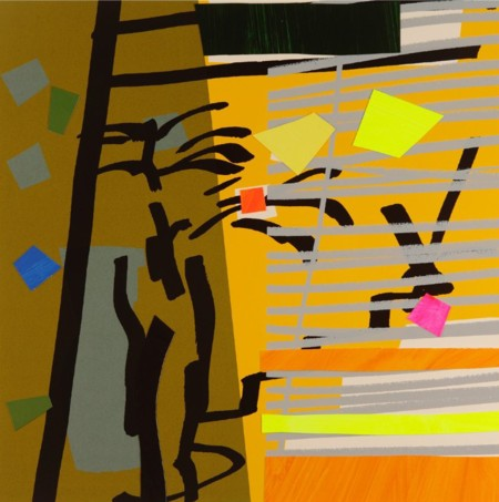 Bruce McLean  |  Tree Fern and Shadow Yellow