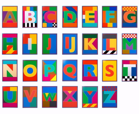 Peter Blake   |  The Dazzle Alphabet Letters -P.O.A